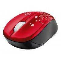 Компьютерная мышь Trust Vivy Wireless Mini Mouse Red USB (17355)