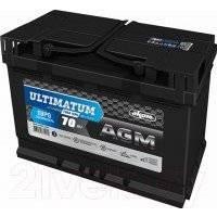 Автомобильный аккумулятор AKOM Ultimatum AGM Евро / 6СТ-70VRLA (70 А/ч)