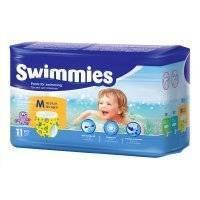 Трусики для плавания Swimmies Medium 12+ кг, 11шт.