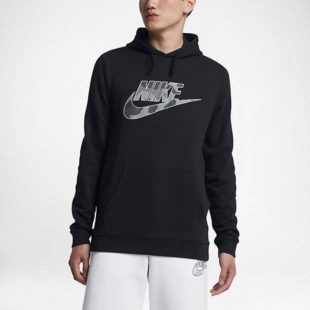 a8ca245b Мужская худи Nike Sportswear Camo (Черный) (AA1208-010) купить за ...