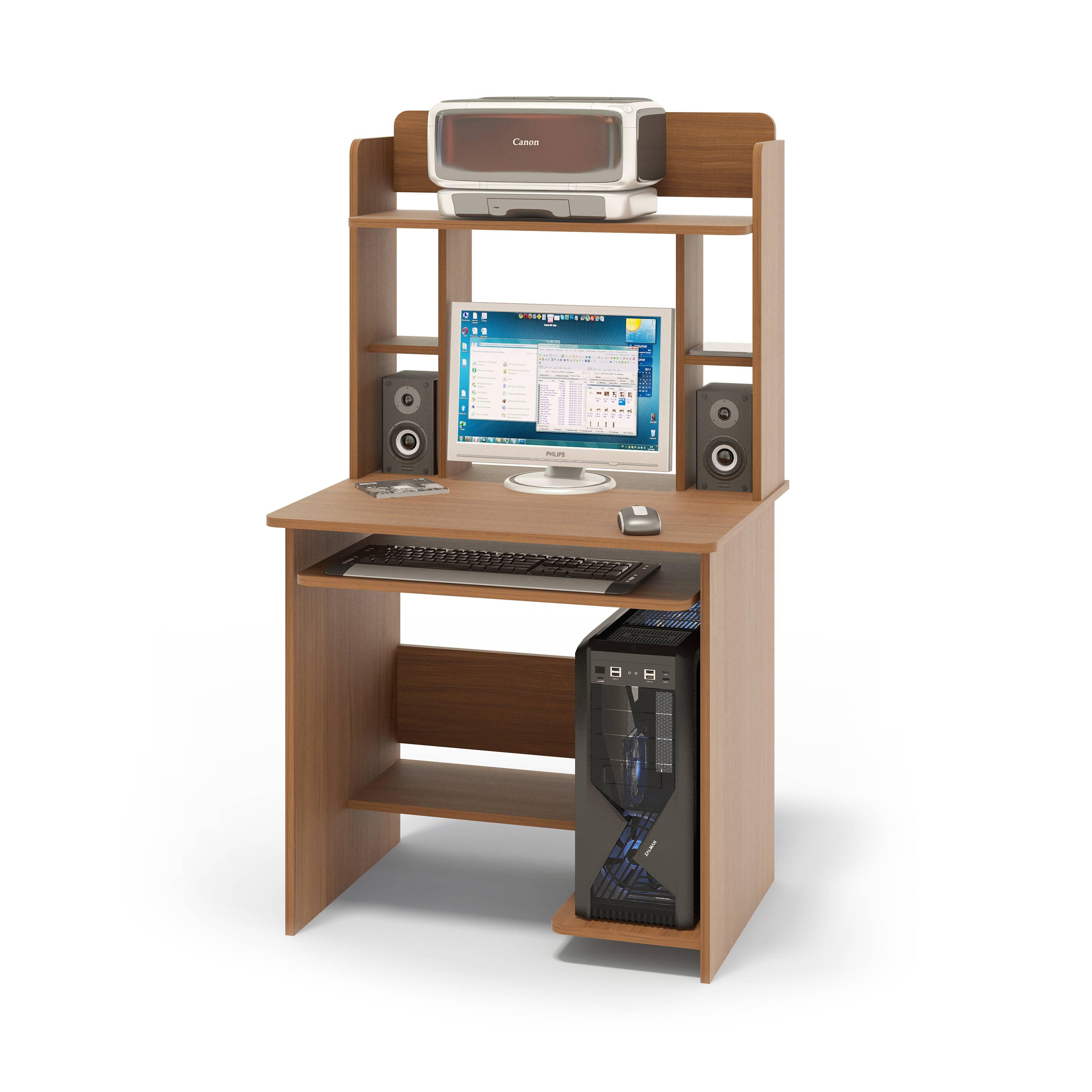 Компьютерный стол сокол (коричневое дерево) купить по цене 4.