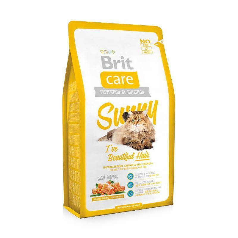 Корм Brit Care Cat Sunny Beautiful Hair 7kg для кошек 132618/5609